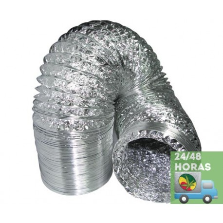 Tubo aluminio flexible 10 m la fulla grow shop - Tubo flexible aluminio ...